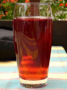 horký ovocný nápoj