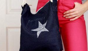 Takto může vypadat pytlová kabelka.