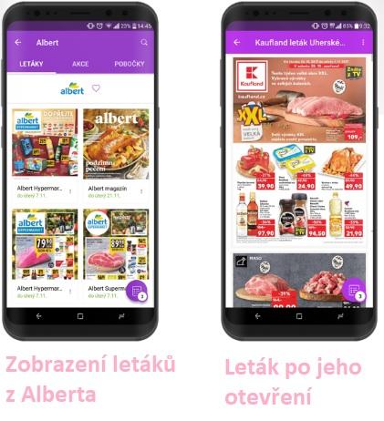 Ukázka z aplikace Kupi