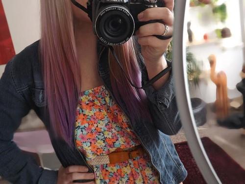 barevné ombre hair