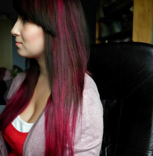 tmavé vlasy - ombre
