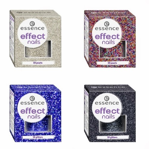 Essence Effect Nails pearls and glitters Collage